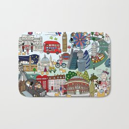 The Queen's London Day Out Bath Mat