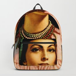Jesus Helguera Painting of a Mexican Fisher Girl With Basket Backpack