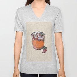 Strawberry chamomile paloma, cocktail, cocktails, beverage Unisex V-Neck