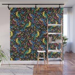 Parrots and Hummingbirds I Wall Mural