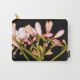 Flowering Pink Jatropha Carry-All Pouch