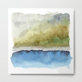 Green by the Sea Metal Print