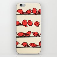 cartoon iPhone & iPod Skins featuring Hanging Out by Eric Fan
