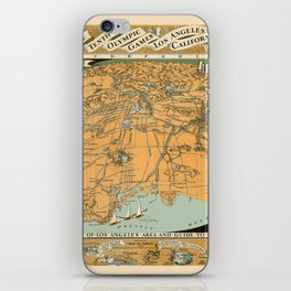Map Of Los Angeles 1932 iPhone Skin