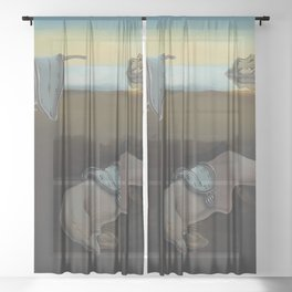 The Persistence of Memory Sheer Curtain