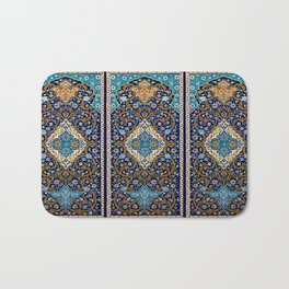 Orintal Persian Floral Mosaic Art Bath Mat