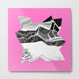 Glitch Scrunch Pink 2 Metal Print