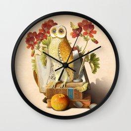 Apprentice Owl Wall Clock