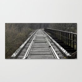 On That Train of Thought Canvas Print