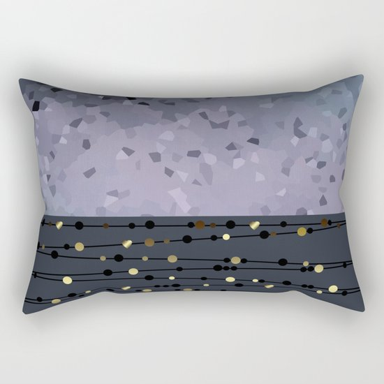 Pink-grey ,blue combo pattern . Rectangular Pillow