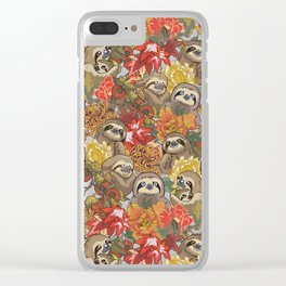 Because Sloths Autumn Clear iPhone Case