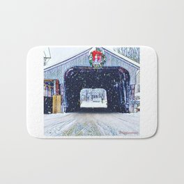 Vermont Covered Bridge Sugabush Bath Mat