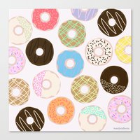donuts Canvas Prints featuring Donuts by Alexandra Aguilar