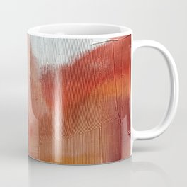 Desert Journey [2]: a textured, abstract piece in pinks, reds, and white by Alyssa Hamilton Art Coffee Mug
