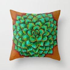Succulent Mandala Throw Pillow