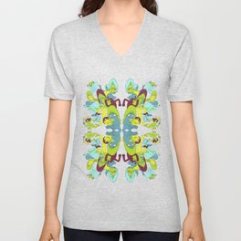 Here and There Unisex V-Neck
