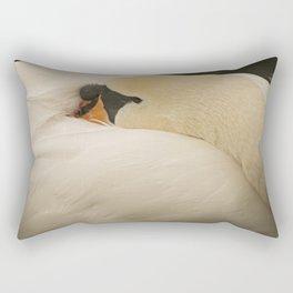 Sleeping Swan Rectangular Pillow