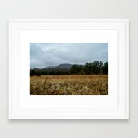 the mountains are calling Framed Art Prints featuring Calling Mountains by Joshua S Carlson