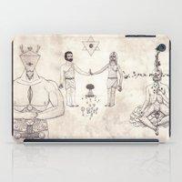 tarot iPad Cases featuring Tarot: IV - The Emperor by Jæn ∞