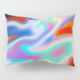 Holographic Abstract Neon Pillow Sham