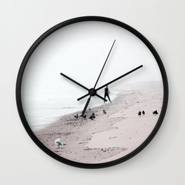 Surfing Where the Ocean Meets the Sky Wall Clock