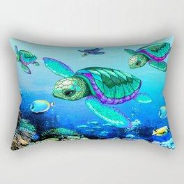 Sea Turtles Dance Rectangular Pillow