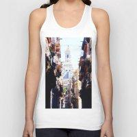 cuba Tank Tops featuring Old Downtown Havana Cuba by Rafael Salazar