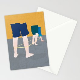 Kids at the elastic game Stationery Cards