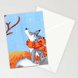 November Snowfall Stationery Cards