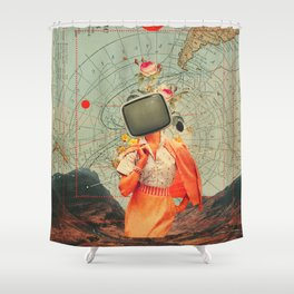 Antarctic Broadcast Shower Curtain