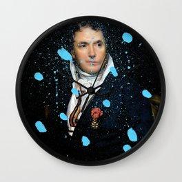 Brutalized Portrait of a Gentleman Wall Clock