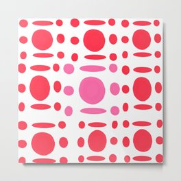 Red romantic pattern Metal Print