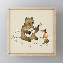 Bear & Fox Framed Mini Art Print