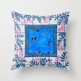 Sorrento Poolside Throw Pillow
