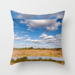 Blue sky cloudscape rural landscape Throw Pillow