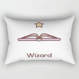 Cute Dungeons and Dragons Wizard class Rectangular Pillow