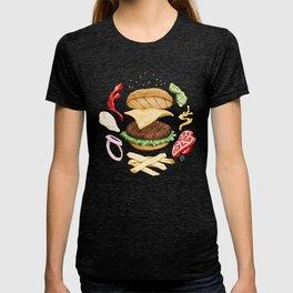 Burger Mandala T-shirt