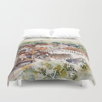 poland Duvet Covers featuring Old Marketplace in Kazimierz Dolny | Poland by Karolina Ostrowska
