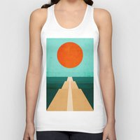 road Tank Tops featuring The Road Less Traveled by Picomodi