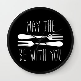 May The Forks Be With You Wall Clock
