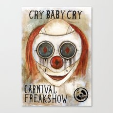 Cry Baby Clown Canvas Print