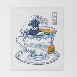 The Great Kanagawa Tee Throw Blanket