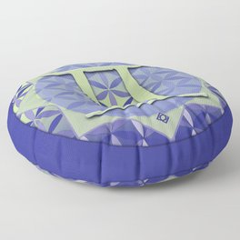 GEMINI Flower of Life Astrology Design Floor Pillow