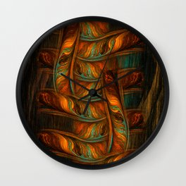 Abstract Totem Wall Clock
