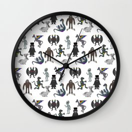 Cryptid Friends Wall Clock