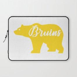 Yellow Bruins Bear Laptop Sleeve