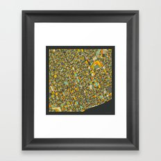 DETROIT MAP Framed Art Print