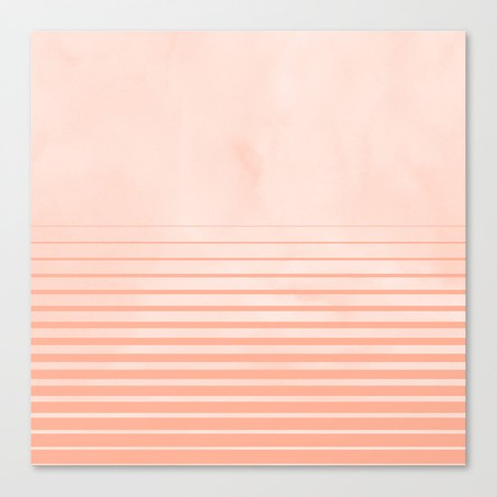 Sweet Life Peach Coral Gradient Canvas Print