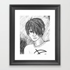 Nyght in Charcoal Framed Art Print