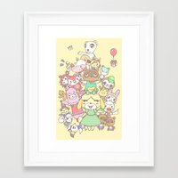 animal crossing Framed Art Prints featuring Animal Crossing (yellow) by Siri